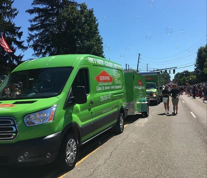 SERVPRO vehicles drive by in parade