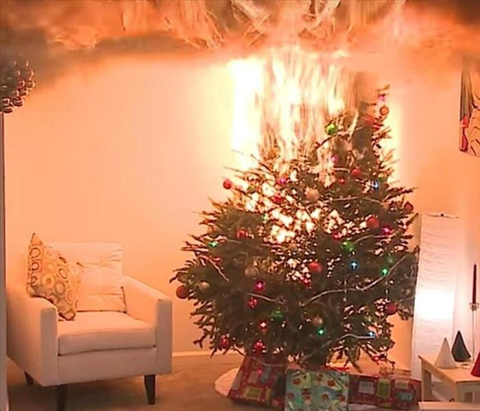 Fire Damage Holiday Fire Prevention Tips